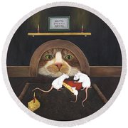 Mouse House Round Beach Towel