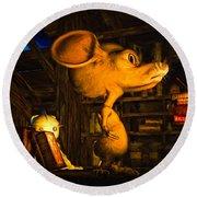 Mouse In The Attic Round Beach Towel by Bob Orsillo
