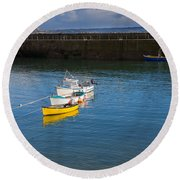 Mousehole Cornwall Round Beach Towel