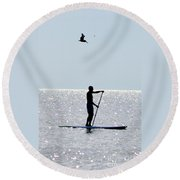 Moving At Rest Round Beach Towel