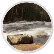 Moving Waters Round Beach Towel