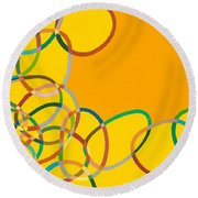 Moving West Round Beach Towel
