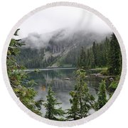 Mowich Lake Round Beach Towel