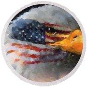 Mr. American Eagle Round Beach Towel