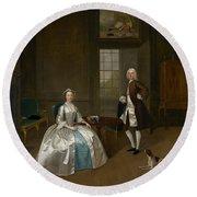 Mr And Mrs Atherton Round Beach Towel