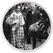 Mr. And Mrs. Luther Burbank Round Beach Towel