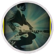 Mr. Chuck Berry Blueberry Hill Style Round Beach Towel