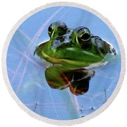 Mr. Frog Round Beach Towel