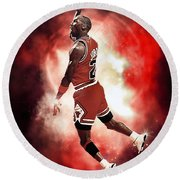 Mr. Michael Jeffrey Jordan Aka Air Jordan Mj Round Beach Towel