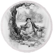 Mr Pickwick, From Charles Dickens A Round Beach Towel