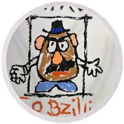 Mr. Potato Head Gone Bad Round Beach Towel