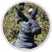 Mr Rabbit 2 Round Beach Towel