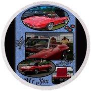 Mr. Sox Corvette Round Beach Towel