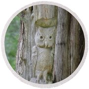 Mr Tingle's Owl Round Beach Towel