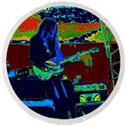Mrdog # 71 Psychedelically Enhanced Round Beach Towel