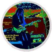 Mrdog # 71 Psychedelically Enhanced W/text Round Beach Towel