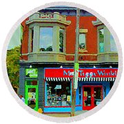 Mrs Tiggy Winkle's Toy Shop And Lost Marbles Richmond Rd The Glebe Paintings Ottawa Scenes C Spandau Round Beach Towel