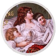 Mrs Winslow's Soothing Syrup Round Beach Towel
