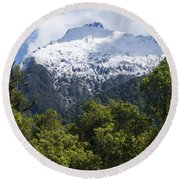 Mt. Aspiring National Park Peaks Round Beach Towel