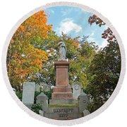 Mt Auburn Cemetery 1 Round Beach Towel