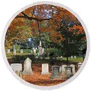 Mt Auburn Cemetery 12 Round Beach Towel