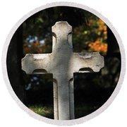 Mt Auburn Cemetery 9 Round Beach Towel
