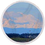 Mt. Baker Of Pacific Northwest Round Beach Towel