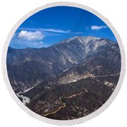 Mt. Baldy Round Beach Towel