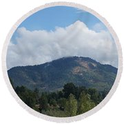 Mt Baldy Panorama From Grants Pass Round Beach Towel