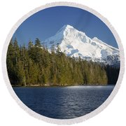 Mt Hood And Lost Lake Round Beach Towel