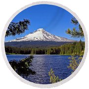 Trillium Lake II Round Beach Towel