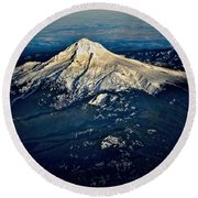 Mt Hood Round Beach Towel