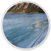 Mt. Inglismaldie And Ice Formations Round Beach Towel