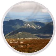Mt. Katahdin Tablelands Round Beach Towel