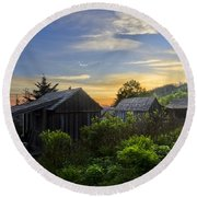 Mt Leconte Before Dawn Round Beach Towel by Debra and Dave Vanderlaan