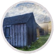 Mt Leconte Cabins Round Beach Towel