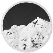 Mt. Ruapehu 2 Round Beach Towel