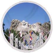 Mt. Rushmore Round Beach Towel