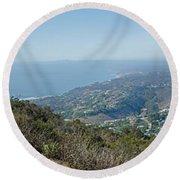 Mt. Soledad - View To The North Round Beach Towel