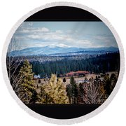 Mt. Spokane Round Beach Towel
