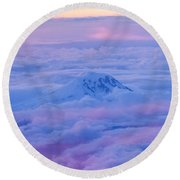 Above The Clouds At Sunset Round Beach Towel