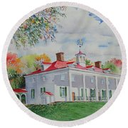 Mt. Vernon In The Fall Round Beach Towel