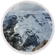 T-703510-mt. Victoria Seen From Mt. Lefroy Round Beach Towel