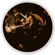 Mtb Jamming 1976 Round Beach Towel