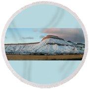 Mt.garfield Winter Round Beach Towel