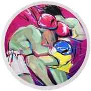 Muay Thai Round Beach Towel