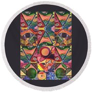 Much More Than A Face - A Joy Of Design Series Compilation Round Beach Towel