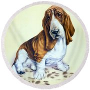 Mucky Pup Round Beach Towel by Andrew Farley