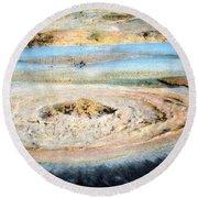Mud Geyser Yellowstone Np 1928 Round Beach Towel