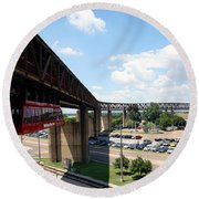 Mud Island In Memphis Round Beach Towel